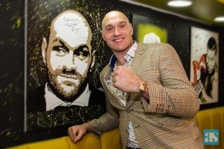 Tyson Fury in Dewsbury UK